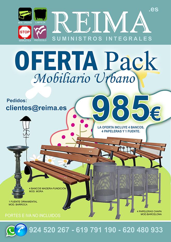 pack oferta mobiliario urbano