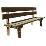 banco rústico madera