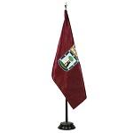 Bandera de Interior raso-bordada municipal