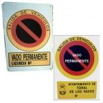 Placa de vado nº y escudo