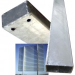 Postes acero galvanizado 300-350x80x40x2mm